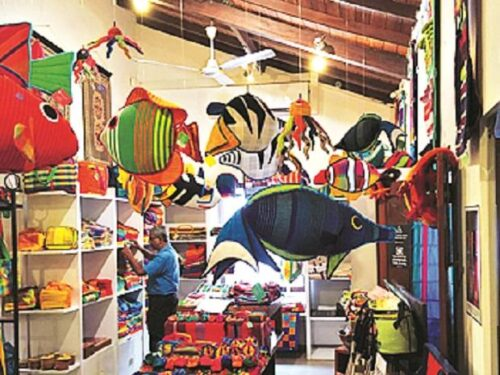 Inside the treasure house, the Barefoot store
