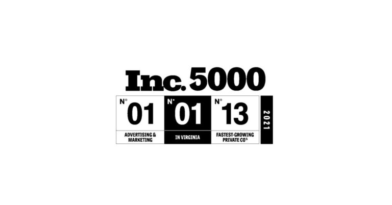 Olympic Media Ranks No. 13 Fastest Growing Company in America; No. 01 Fastest Growing Company in Advertising & Marketing, and; No. 01 Fastest Growing Company in Virginia on the 2021 Inc. 5000.